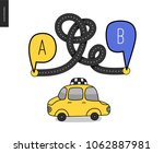 from point a to point b   an...   Shutterstock .eps vector #1062887981