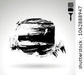 black brush stroke and texture. ... | Shutterstock .eps vector #1062888947