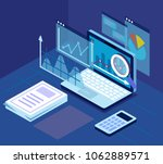 case study research concept pc... | Shutterstock .eps vector #1062889571