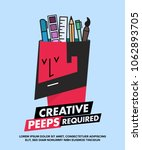 we are hiring designers... | Shutterstock .eps vector #1062893705