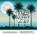 full moon party summer | Shutterstock .eps vector #1062896951