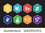 employee benefits infographic... | Shutterstock .eps vector #1062901451