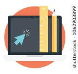 flat icon of online computer...   Shutterstock .eps vector #1062903899
