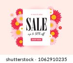spring sale background with... | Shutterstock .eps vector #1062910235