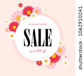 spring sale background with... | Shutterstock .eps vector #1062910241