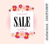 spring sale background with... | Shutterstock .eps vector #1062914849