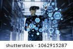 it engineer wearing virtual... | Shutterstock . vector #1062915287