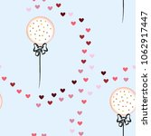 romantic pattern with a balloon ... | Shutterstock .eps vector #1062917447