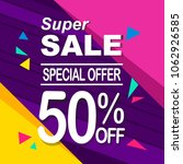 super sale banner. discount and ... | Shutterstock .eps vector #1062926585