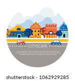 cityscape  vector illustration... | Shutterstock .eps vector #1062929285