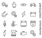 flat vector icon set   gears... | Shutterstock .eps vector #1062931469