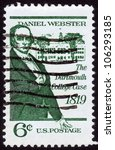 Small photo of USA - CIRCA 1969: A stamp printed in the USA shows Daniel Webster, politician and lawyer, devoted to The Dartmouth College Case 1819, circa 1969