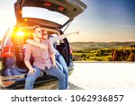summer car on road and free... | Shutterstock . vector #1062936857