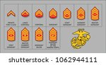 marines enlisted rank insignia  ... | Shutterstock .eps vector #1062944111