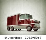 old red truck isolated on white ... | Shutterstock . vector #106295069
