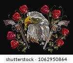 embroidery eagle head  crossed... | Shutterstock .eps vector #1062950864