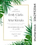 wedding floral invitation ... | Shutterstock .eps vector #1062952064