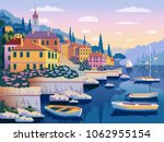mediterranean romantic... | Shutterstock .eps vector #1062955154
