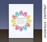 cover or flyer vector design... | Shutterstock .eps vector #106295867