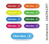 set of click here button with... | Shutterstock .eps vector #1062961397
