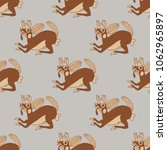 seamless geometrical monochrome ... | Shutterstock .eps vector #1062965897