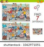 cartoon illustration of finding ... | Shutterstock .eps vector #1062971051
