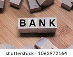 Bank Word Written In Wooden Cube