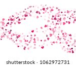 pink valentine's day scatter of ... | Shutterstock .eps vector #1062972731