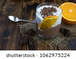 chocolate pudding with chia and ...   Shutterstock . vector #1062975224