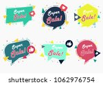 sale banner template design... | Shutterstock .eps vector #1062976754