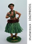 hawaiian hula male doll in a... | Shutterstock . vector #1062980531