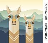 llama  alpaca vector... | Shutterstock .eps vector #1062982379