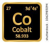 periodic table element cobalt... | Shutterstock .eps vector #1062985094