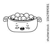 line kawaii cute peas vegetable ... | Shutterstock .eps vector #1062989081