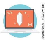 vector icon of clean code     Shutterstock .eps vector #1062994181