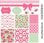 vintage rose pattern  frames... | Shutterstock .eps vector #106300844