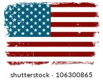 vintage american flag | Shutterstock .eps vector #106300865