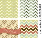 a set of seamless retro zig zag ... | Shutterstock .eps vector #106300901