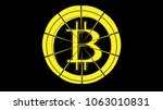 abstract simple yellow bitcoin... | Shutterstock .eps vector #1063010831