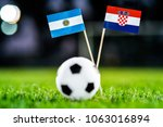 argentina   croatia  group d ... | Shutterstock . vector #1063016894