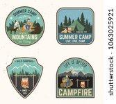 set of summer camp badges.... | Shutterstock .eps vector #1063025921