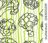 broccoli hand drawn vector... | Shutterstock .eps vector #1063031039