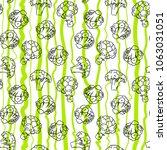 broccoli hand drawn vector... | Shutterstock .eps vector #1063031051