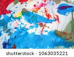 abstract texture of colored ink ... | Shutterstock . vector #1063035221
