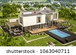 3d rendering of modern cozy... | Shutterstock . vector #1063040711