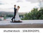 Bride And Groom Figurines On...