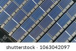 top down picture of solar... | Shutterstock . vector #1063042097