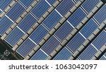 top down picture of solar... | Shutterstock . vector #1063042097