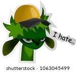 sticker i hate | Shutterstock .eps vector #1063045499