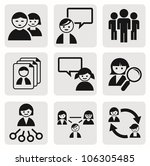 people icons. | Shutterstock .eps vector #106305485